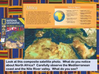 Africa is made up of many diverse countries….