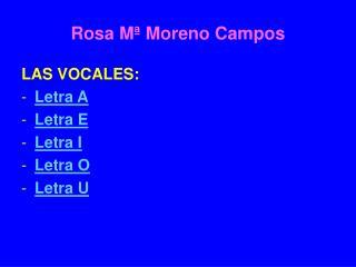 Rosa M� Moreno Campos