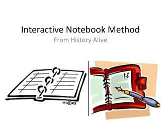 Interactive Notebook Method
