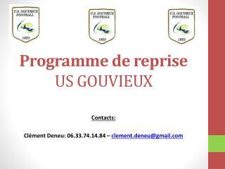 Programme de reprise US GOUVIEUX