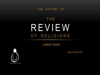 Review  of Religions