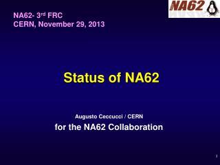 Status of NA62
