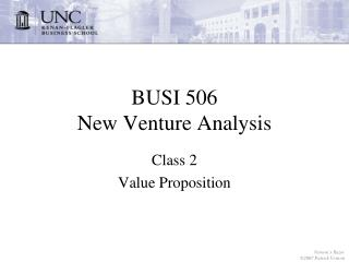 BUSI 506 New Venture Analysis