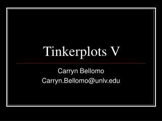 Tinkerplots V