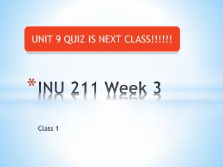 INU 211 Week 3