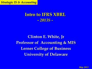 Intro to IFRS XBRL - 2013S -