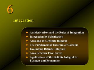 Antiderivatives and the Rules of Integration Integration by Substitution