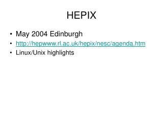 HEPIX