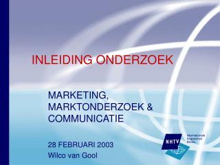INLEIDING ONDERZOEK