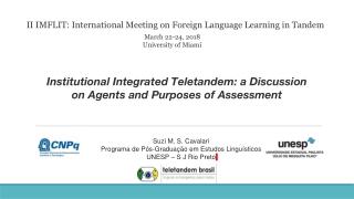 Telecollaborative Learning