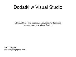 Dodatki w Visual Studio