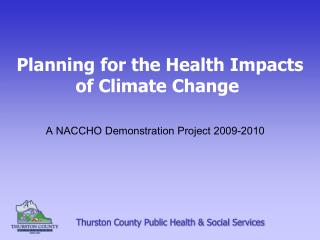 Planning for the Health Impacts of Climate Change