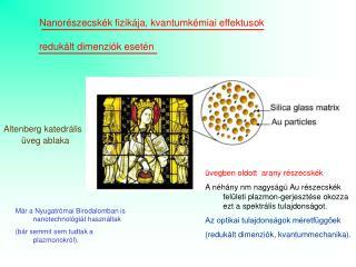 Nanorészecskék fizikája, kvantumkémiai effektusok  redukált dimenziók esetén