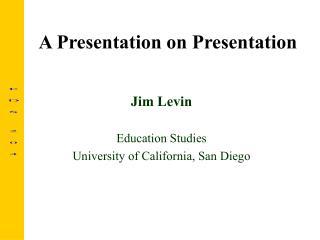 A Presentation on Presentation