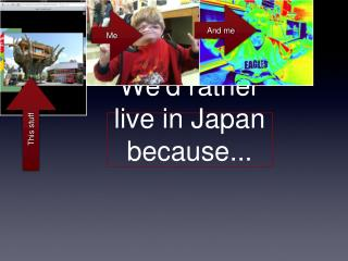 We'd rather live in Japan because...