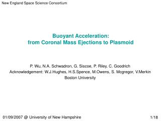 Buoyant Acceleration:  from Coronal Mass Ejections to Plasmoid