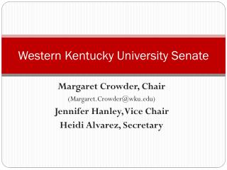 Western Kentucky University Senate