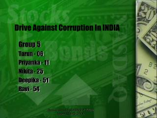 Group 5 Tarun  - 06 Priyanka  - 11 Nikita - 25 Deepika  - 51 Ravi - 54
