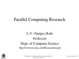 Parallel Computing Research
