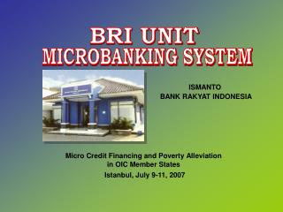 MICROBANKING SYSTEM