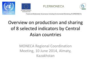 Overview on production and sharing of 8 selected indicators by Central Asian countries