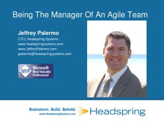 Being The Manager Of An Agile Team