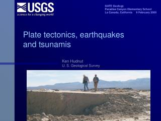 Plate tectonics, earthquakes and tsunamis