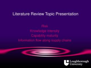 Literature Review Topic Presentation