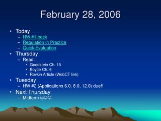 February 28, 2006