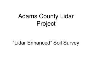 Adams County Lidar Project