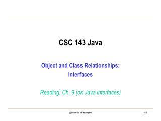 CSC 143 Java