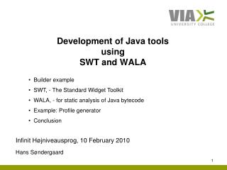 Development of Java tools  using  SWT and WALA