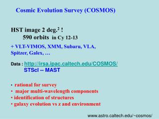 Cosmic Evolution Survey (COSMOS)