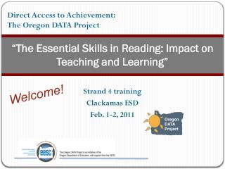 """The Essential Skills in Reading: Impact on Teaching and Learning"""