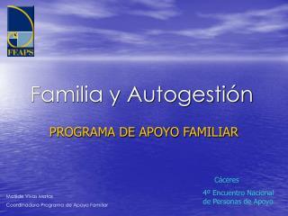 Familia y Autogestión
