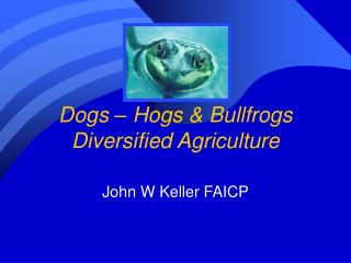 Dogs – Hogs & Bullfrogs Diversified Agriculture