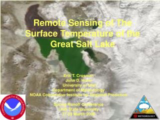 Remote Sensing of The Surface Temperature of the Great Salt Lake