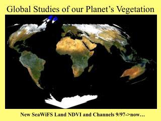 Global Studies of our Planet's Vegetation