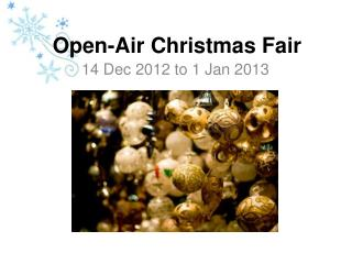 Open- Air  Christmas Fair
