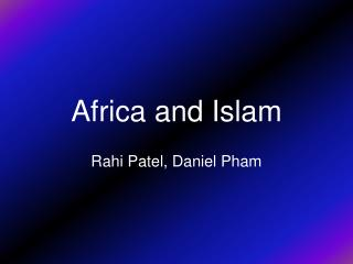 Africa and Islam
