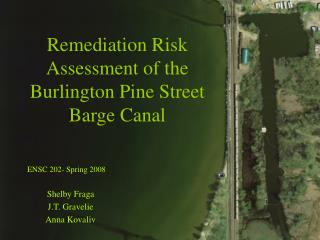 Remediation Risk Assessment of the Burlington Pine Street Barge Canal
