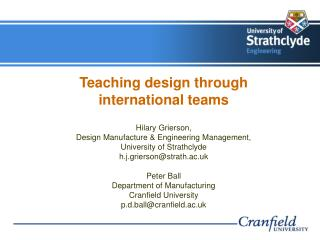Teaching design through international teams