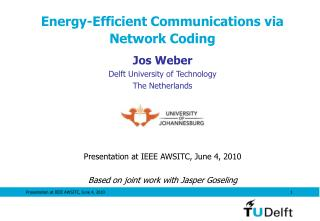 Energy-Efficient Communications via Network Coding