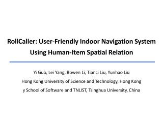 RollCaller : User-Friendly Indoor Navigation System Using Human-Item Spatial Relation
