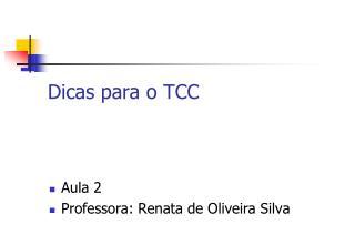 Dicas para o TCC