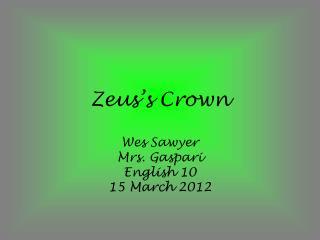 Zeus's Crown