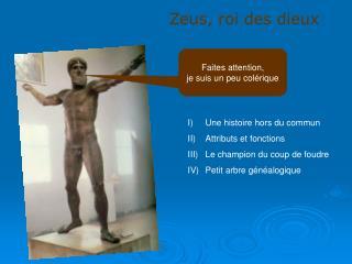 Zeus, roi des dieux