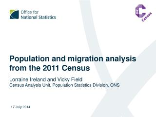 Population and migration analysis from the 2011 Census