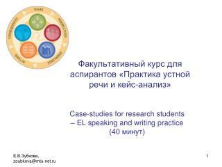 Факультативный курс для аспирантов «Практика устной речи и кейс-анализ»