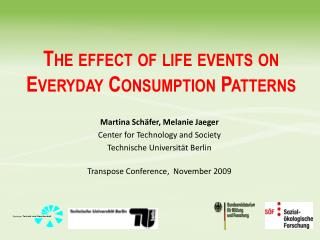 The effect of life events on Everyday Consumption Patterns